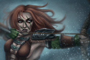 Aela the Huntress. by riikozor
