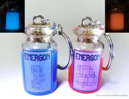 Large Energon Keychain - Glows in the dark! by birdsoup