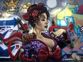 graff geisha by elbearone