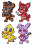 Five Nights at Freddy's - Chibis by SpazztasticFanGirl