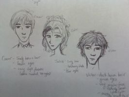 Character Sketches for Novel by Texas-Guard-Chic