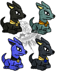 Anubis Pup adopts (3 pts) 2/4 open by Tygerlanders-adopts