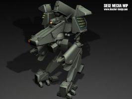 Siege Mecha WIP by MikeDoscher