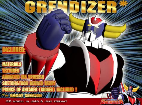 Grendizer robot version 3D model by staiff
