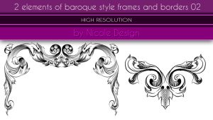 2 Elements Of Baroque Style Frames And Borders 02 by noema-13