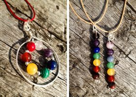 Sterling Silver Chakra Pendants by BumbleBeeFairy