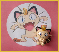 Chibi-Charms: Pokemon Meowth by MandyPandaa