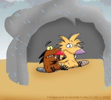 Dag and Norb in a Cave by TrishaKat