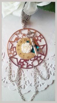 Steampunk / Time Traveller Necklace by StrawberryMarmalade