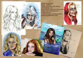 Portraits made to order by TigaLioness