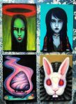 Oil Paintings for Mini Art Show by Puku