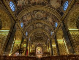 Valletta Co Cathedral HDR1 by Dogbytes