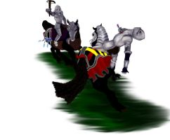 Friesian Warriors by ArabianSpirit