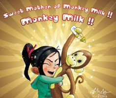 Vanellope: Sweet mother of monkey milk!! by lokinpong