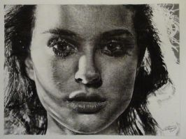 Natalie Portman Pencil Drawing by derektwilt