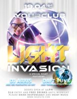 Light Invasion Flyer Template by ArtoriusGothicus