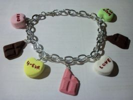 Valentine's Day Sweets Charm Bracelet by TashaAkaTachi