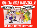 Kong King Vs. Oh-My-Godzilla by Granitoons