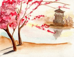 Cherry Trees by tynafish