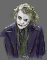 Heath Ledger Joker by bugsandbears