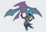 Crobat + Archie for Claire by SamCyberCat