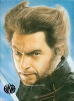 pastel portrait wolverine by eymage