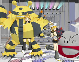Rin and Len Kagamine Pokemon by ultimate44