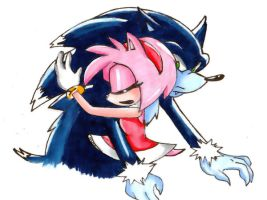 He's still my Sonic by Amyrosepetal14