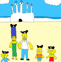 The Simpsons at Disney World by Simpsonsfanatic33