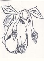 Glaceon Sketch by strangmusicobsession
