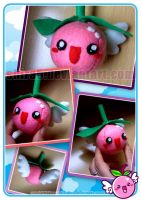 FLYING CHERRY PLUSHIE by Cukismo