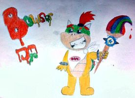 Bowser Jr with his paintbrush by polarbear1234