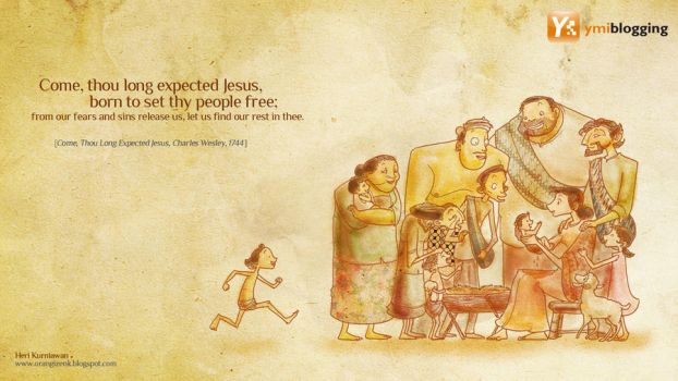 Come Thou Long Expected Jesus by orangizenk