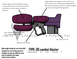 Type-30 Combat blaster by Sandwich-Anomaly