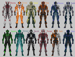 Crystal Warframe Variations by KiBoune