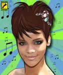 Rihanna vexel by gdvectors