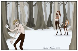 The Satyr Family by MyDyingRose