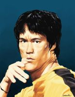 Bruce Lee by asakisting