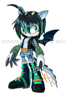 Sonic Chara: Azure the Dragon by Zephyros-Phoenix