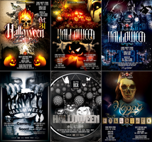 PSD Halloween Flyer Templates by retinathemes