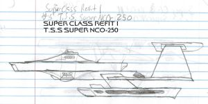 Super Class Refit 1 Paper Drawing by kaisernathan1701