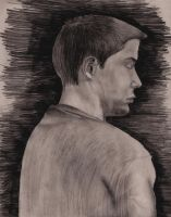 Male Student Figure Drawing by ellyabby