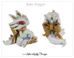 Pastel Rainbow Baby Dragon by ShaidySkyDesign