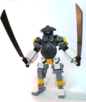 Lego samurai robot by hiddenderek69