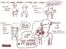 how to make friends by wafflesrules