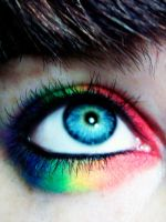Rainbow Eyelids by dashedandshattered