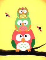 Owl Stack by MegLyman