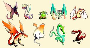 Dragon Designs by ConceptualMachina