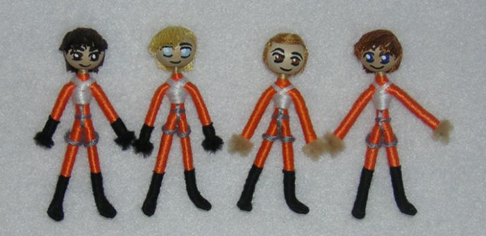 X-Wing pilot worry dolls by Dragonhand
