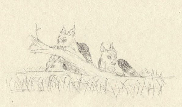 Three Griffin Cubs by Imbecamiel